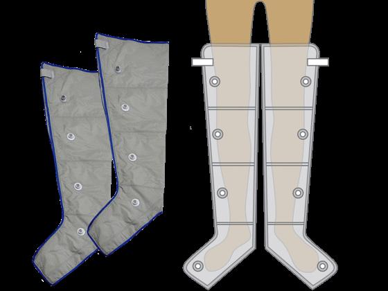 4 légkamrás láb mandzsettapár M méret
