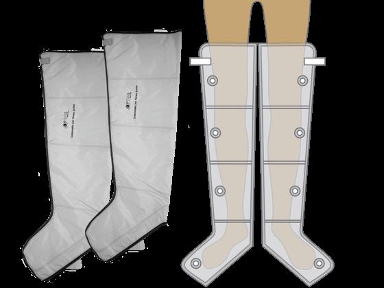 4 légkamrás láb mandzsetta, szürke PQ-2200-hoz