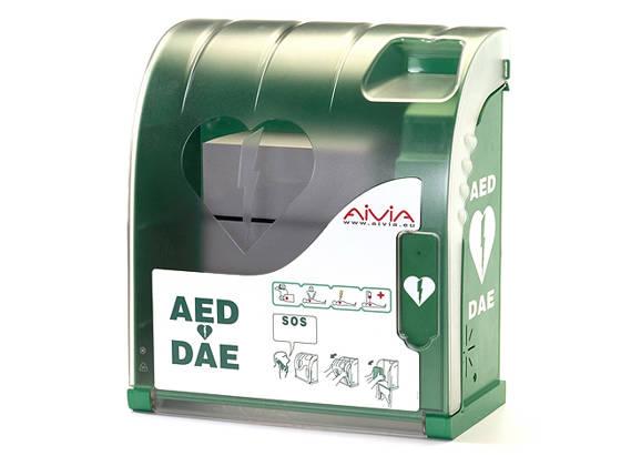 AIVIA 100 riasztós defibrillátor szekrény