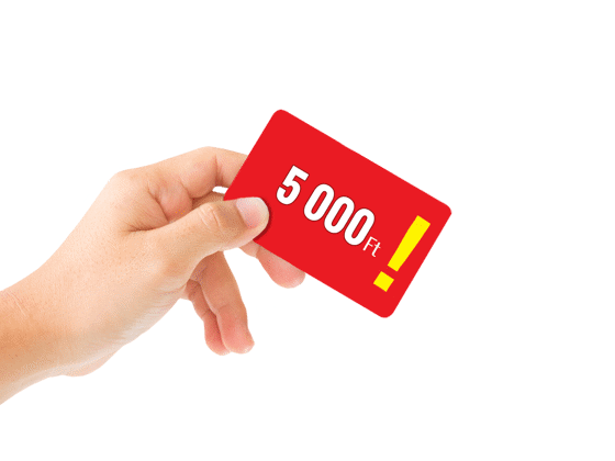 Vásárlási utalvány 5000