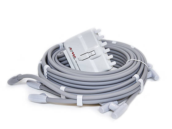 Dual air hose, 2x6 leads